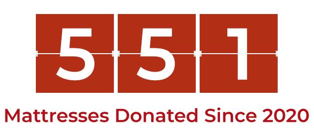 551 mattresses donated since September 2021
